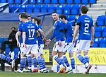 St Johnstone v Clyde…17.04.21   McDiarmid Park   Scottish Cup<br />Michael O'Halloran celebrates his goal<br />Picture by Graeme Hart.<br />Copyright Perthshire Picture Agency<br />Tel: 01738 623350  Mobile: 07990 594431