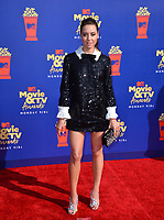 SANTA MONICA, USA. June 16, 2019: Aubrey Plaza at the 2019 MTV Movie & TV Awards at Barker Hangar, Santa Monica.<br /> Picture: Paul Smith/Featureflash