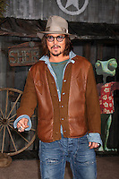 LOS ANGELES - FEB 14:  Johnny Depp arrives at the Rango Premiere at Village Theater on February 14, 2011 in Westwood, CA