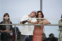 July 4th 2021; Red Bull Ring, Spielberg, Austria; F1 Grand Prix of Austria, race day;  Tennis player Dominic Thiem with girlfriend Lili Paul-Roncalli.