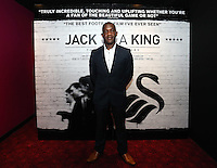 """Pictured: Footballer Adrian Forbes. Friday 12 September 2014<br /> Re: Premiere of """"Jack To A King"""" a film about the history of Swansea City Football Club, at The Empire Cinema in Leicester Square, London, UK."""