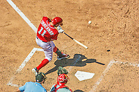 24 May 2015: Washington Nationals first baseman Ryan Zimmerman at bat against the Philadelphia Phillies at Nationals Park in Washington, DC. The Nationals defeated the Phillies 4-1 to take the rubber game of their 3-game weekend series. Mandatory Credit: Ed Wolfstein Photo *** RAW (NEF) Image File Available ***