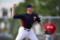 Minnesota Twins pitcher Rich Condeelis (94) during an instructional league game against the Boston Red Sox on September 26, 2015 at CenturyLink Sports Complex in Fort Myers, Florida.  (Mike Janes/Four Seam Images)