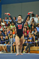 LOS ANGELES, CA - February 5, 2012:  Stanford's Jenny Peter during competition against the UCLA Bruins at the Wooden Center.   UCLA defeated Stanford, 197.250 - 196.450.