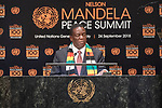 Opening Plenary Meeting of the Nelson Mandela Peace Summit<br /> <br /> His Excellency Emmerson Dambudzo MNANGAGWAPresident of the Republic of Zimbabwe