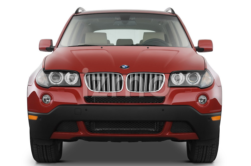 Straight front view of a 2008 BMW X3