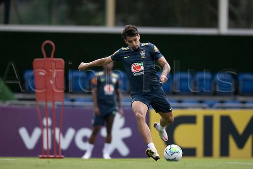 10th November 2020; Granja Comary, Teresopolis, Rio de Janeiro, Brazil; Qatar 2022 qualifiers; Lucas Paqueta of Brazil during training session in Granja Comary