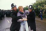 """Orgreave, Yorkshire, 1984<br /> The Battle of Orgreave was a violent confrontation on 18 June between police and pickets at a British Steel Corporation coking plant at Orgreave.  A pivotal event during the Miners Strike. Dene Wall was a young miner; a flying picket from High Moor Colliery in North East Derbyshire.  That morning in the push and shrove, he was """"randomly arrested, kicked and punched by the police snatch squad."""" Charged at Sheffield Crown Court with Unlawful Assembly, a section under the 1715 Riot Act, if he had been found guilty he may have faced up to 15 years behind bars. He was found not guilt."""