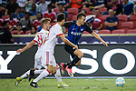 FC Internazionale Forward Ivan Perisic (R) fights for the ball with Bayern Munich Midfielder Niklas Dorsch (L) during the International Champions Cup match between FC Bayern and FC Internazionale at National Stadium on July 27, 2017 in Singapore. Photo by Weixiang Lim / Power Sport Images