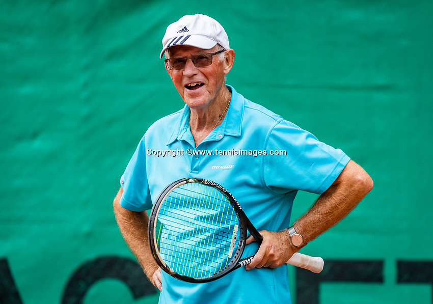 Hilversum, The Netherlands,  August 18, 2020,  Tulip Tennis Center, NKS, National Senior Championships, Men's single 80+  Peter Buter (NED)<br /> Photo: www.tennisimages.com/Henk Koster