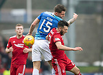 St Johnstone v AberdeenÖ23.02.19Ö  McDiarmid Park    SPFL<br /> Connor McLennan gets a sore one from Jason K`err<br /> Picture by Graeme Hart. <br /> Copyright Perthshire Picture Agency<br /> Tel: 01738 623350  Mobile: 07990 594431