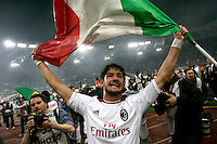Calcio, Serie A: Roma-Milan. Roma, stadio Olimpico, 7 maggio 2011..Football, Italian serie A: AS Roma vs AC Milan. Rome, Olympic stadium, 7 may 2011..AC Milan forward Alexandre Pato, of Brazil, celebrates at the end of the match for the winning of the 18th championship..UPDATE IMAGES PRESS/Riccardo De Luca