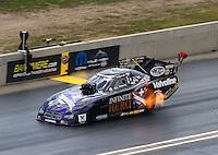 Jul. 20, 2014; Morrison, CO, USA; NHRA funny car driver Jack Beckman during the Mile High Nationals at Bandimere Speedway. Mandatory Credit: Mark J. Rebilas-