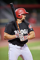 Chattanooga Lookouts third baseman T.J. White (33) at bat during a game against the Jackson Generals on May 9, 2018 at AT&T Field in Chattanooga, Tennessee.  Chattanooga defeated Jackson 4-2.  (Mike Janes/Four Seam Images)