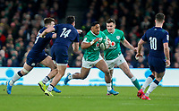 Saturday 1st February 2020 | Ireland vs Scotland<br /> <br /> Bundee Aki during the 2020 6 Nations Championship   clash between Ireland and Scotland at he Aviva Stadium, Lansdowne Road, Dublin, Ireland. Photo by John Dickson / DICKSONDIGITAL