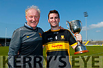 Eddie Murphy and Mike Milner Captain, Dr. Crokes after the Kerry County Intermediate Hurling Championship Final match between Dr Crokes and Tralee Parnell's at Austin Stack Park in Tralee
