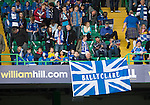 St Johnstone v Dundee United....17.05.14   William Hill Scottish Cup Final<br /> A Ballyclare flag in support of St Johnstone manager Tommy Wright<br /> Picture by Graeme Hart.<br /> Copyright Perthshire Picture Agency<br /> Tel: 01738 623350  Mobile: 07990 594431