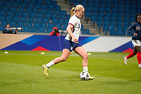 LE HAVRE, FRANCE - APRIL 13: Lindsey Horan #9 of the United States during a game between France and USWNT at Stade Oceane on April 13, 2021 in Le Havre, France.