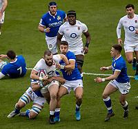 13th February 2021; Twickenham, London, England; International Rugby, Six Nations, England versus Italy; Luke Cowan-Dickie of England is tackled