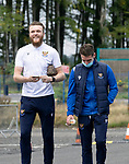 St Johnstone v Dundee United…22.08.21  McDiarmid Park    SPFL<br />Zander Clark and Craig Bryson arrive ahead of today's game<br />Picture by Graeme Hart.<br />Copyright Perthshire Picture Agency<br />Tel: 01738 623350  Mobile: 07990 594431