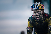 Wout van Aert (BEL/Jumbo-Visma) finishes the UCI cyclo-cross World Cup in Dendermonde on september 27, 2020 in Belgium.<br /> <br /> ©kramon