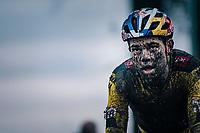 Wout van Aert (BEL/Jumbo-Visma) finishes the UCI cyclo-cross World Cup in Dendermonde on september 27, 2020 in Belgium.<br /> <br /> ©kramon