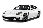 2019 Porsche Panamera 4-E-Hybrid 5 Door Hatchback Angular Front automotive stock photos of front three quarter view