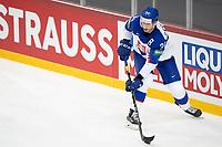 23rd May 2021, Riga Olympic Sports Centre Latvia; 2021 IIHF Ice hockey, Eishockey World Championship, Great Britain versus Slovakia;  34 Peter Cehlarik Slovakia looking for the pass