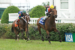5 July 2009: 4-5 favorite Closeout and jockey Robbie Albarado win the 28th running of the G3 Locust Grove Handicap at Churchill Downs in Louisville, Kentucky.