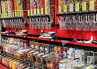Selection of penny candy in a candy shop.