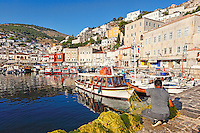 A fisherman in the port of Hydra in Greece