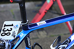 Alice Sharpe's (IRL) bike at sign on for the start of the Women Elite Road Race of the UCI World Championships 2019 running 149.4km from Bradford to Harrogate, England. 28th September 2019.<br /> Picture: Eoin Clarke | Cyclefile<br /> <br /> All photos usage must carry mandatory copyright credit (© Cyclefile | Eoin Clarke)