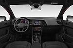 Stock photo of straight dashboard view of 2019 Cupra Ateca Xcellence 5 Door SUV Dashboard