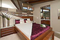 Stock photo of lavish ultra modern bedroom