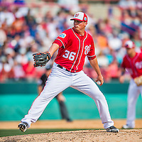 5 March 2016: Washington Nationals pitcher Sammy Solis on the mound during a Spring Training pre-season game against the Detroit Tigers at Space Coast Stadium in Viera, Florida. The Nationals defeated the Tigers 8-4 in Grapefruit League play. Mandatory Credit: Ed Wolfstein Photo *** RAW (NEF) Image File Available ***