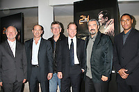 """Rodney Charters, Howard Gordon, Michael Klick, Kiefer Sutherland, Jon Cassar, and Kelsey McNeal  arriving at a photo exhibit featuring the photos taken during the production of """"24:  Redemption - Captured in Africa""""  , Exhibit at the Paley Center for Media in Beverly Hills, CA on .November 10, 2008.©2008 Kathy Hutchins / Hutchins Photo...                . ."""