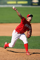 September 1 2008:  Pitcher Adam Reifer of the Batavia Muckdogs, Class-A affiliate of the St. Louis Cardinals, during a game at Dwyer Stadium in Batavia, NY.  Photo by:  Mike Janes/Four Seam Images