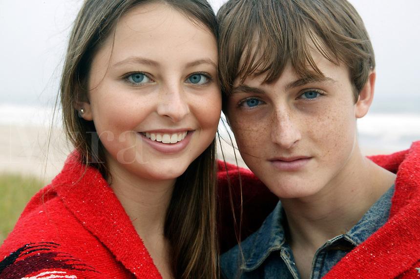 Teenage couple.<br />