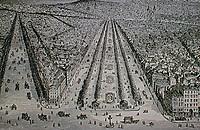 Boulevard Richard-Lenoir, running from the Bastille to the Avenue de la République. Baron Haussmann covered an old canal. 1861-63.
