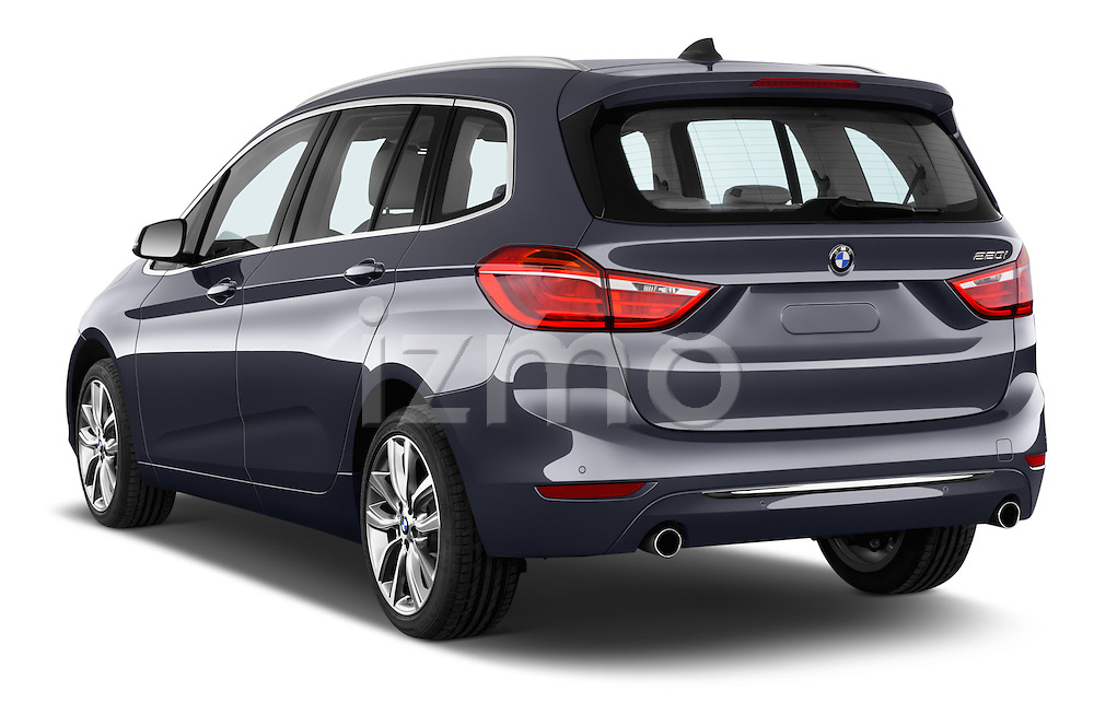 Car pictures of rear three quarter view of 2015 BMW 2 Series Gran Tourer Luxury 5 Door Mini Mpv Angular Rear