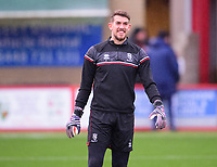 Lincoln City's Alex Palmer during the pre-match warm-up<br /> <br /> Photographer Andrew Vaughan/CameraSport<br /> <br /> The EFL Sky Bet League One - Accrington Stanley v Lincoln City - Saturday 21st November 2020 - Crown Ground - Accrington<br /> <br /> World Copyright © 2020 CameraSport. All rights reserved. 43 Linden Ave. Countesthorpe. Leicester. England. LE8 5PG - Tel: +44 (0) 116 277 4147 - admin@camerasport.com - www.camerasport.com