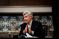 United States Senator Sheldon Whitehouse (Democrat of Rhode Island) speaks during a US Senate Judiciary Committee business meeting to consider authorization for subpoenas relating to the Crossfire Hurricane investigation and other matters on Capitol Hill in Washington, DC on June 11, 2020. <br /> Credit: Erin Schaff / Pool via CNP/AdMedia