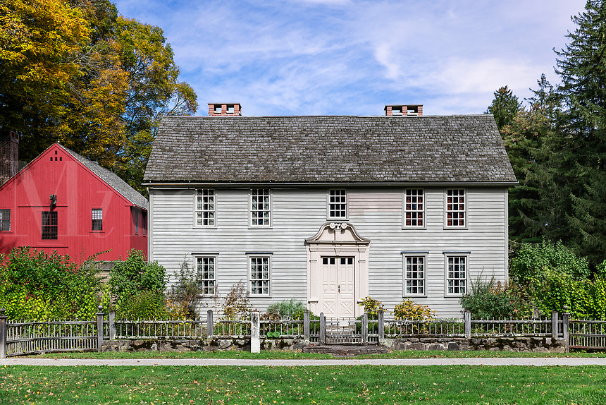 Historic Mission House originally occupied by the Reverand John Sergeant, missionary to the Mohican Indians, Stockbridge, Massachusetts, USA.