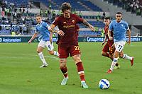 26th September 2021;  Stadio Olimpico, Rome, Italy; Italian Serie A football, SS Lazio versus AS Roma; Nicolo Zaniolo of As Roma