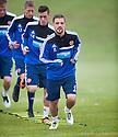 Hearts' Scott Robinson at today's training.