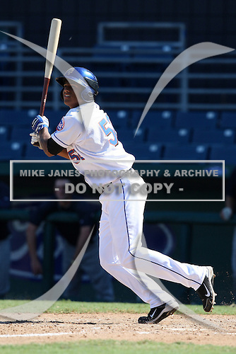New York Mets minor league outfielder Rafael Fernandez (52) during a game vs. the Minnesota Twins in an Instructional League game at City of Palms Park in Fort Myers, Florida;  October 4, 2010.  Photo By Mike Janes/Four Seam Images