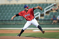 Piedmont Boll Weevils relief pitcher Kevin Folman (45) in action against the Greensboro Grasshoppers at Kannapolis Intimidators Stadium on June 16, 2019 in Kannapolis, North Carolina. The Grasshoppers defeated the Boll Weevils 5-2. (Brian Westerholt/Four Seam Images)