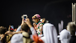 DUBAI, UNITED ARAB EMIRATES - MARCH 25: Mike Smith atop Arrogate #9, enters the winners circle after winning the Dubai World Cup at Meydan Racecourse during Dubai World Cup Day on March 25, 2017 in Dubai, United Arab Emirates. (Photo by Douglas DeFelice/Eclipse Sportswire/Getty Images)