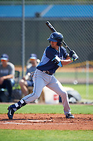 Tampa Bay Rays Nick Franklin (2) during a minor league Spring Training intrasquad game on April 1, 2016 at Charlotte Sports Park in Port Charlotte, Florida.  (Mike Janes/Four Seam Images)