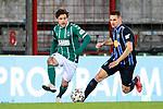 13.01.2021, xtgx, Fussball 3. Liga, VfB Luebeck - SV Waldhof Mannheim emspor, v.l. Mirko Boland (Luebeck, 31), Marco Schuster (Mannheim, 6)  <br /> <br /> (DFL/DFB REGULATIONS PROHIBIT ANY USE OF PHOTOGRAPHS as IMAGE SEQUENCES and/or QUASI-VIDEO)<br /> <br /> Foto © PIX-Sportfotos *** Foto ist honorarpflichtig! *** Auf Anfrage in hoeherer Qualitaet/Aufloesung. Belegexemplar erbeten. Veroeffentlichung ausschliesslich fuer journalistisch-publizistische Zwecke. For editorial use only.